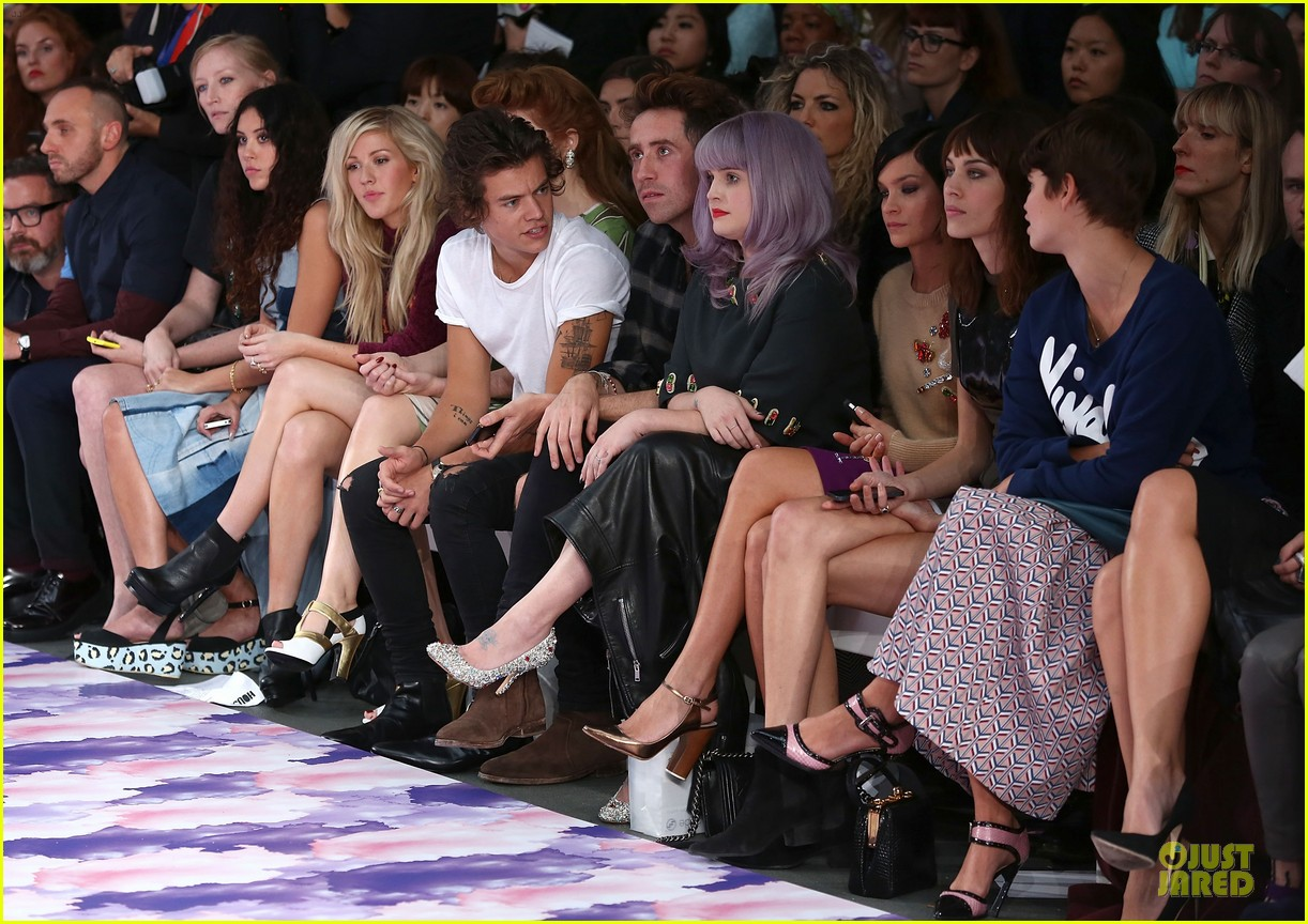 harry styles kelly osbourne house of holland fashion show 11
