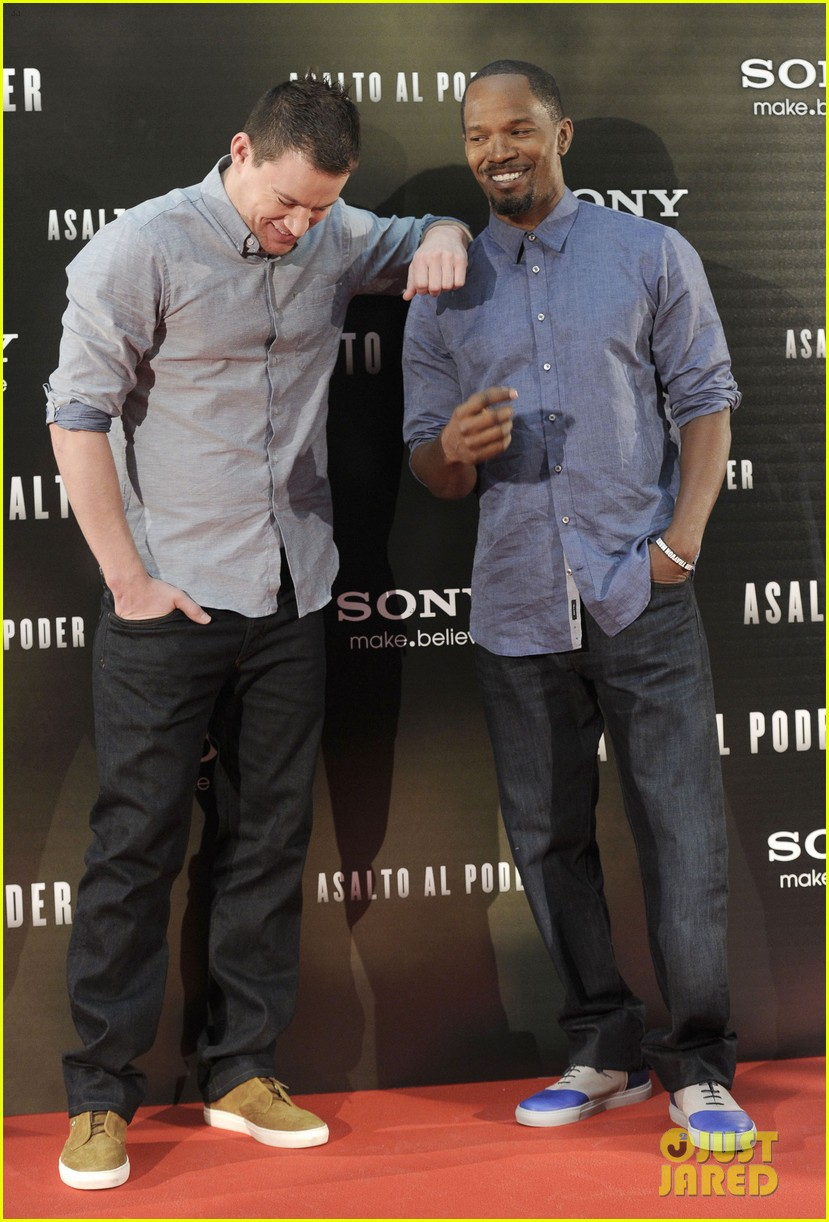 channing tatum jamie foxx white house down madrid photo call 21