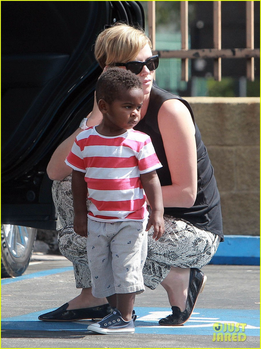 charlize theron grabs coffee with her little man jackson 12