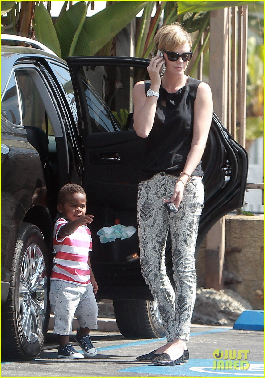 charlize theron grabs coffee with her little man jackson 20
