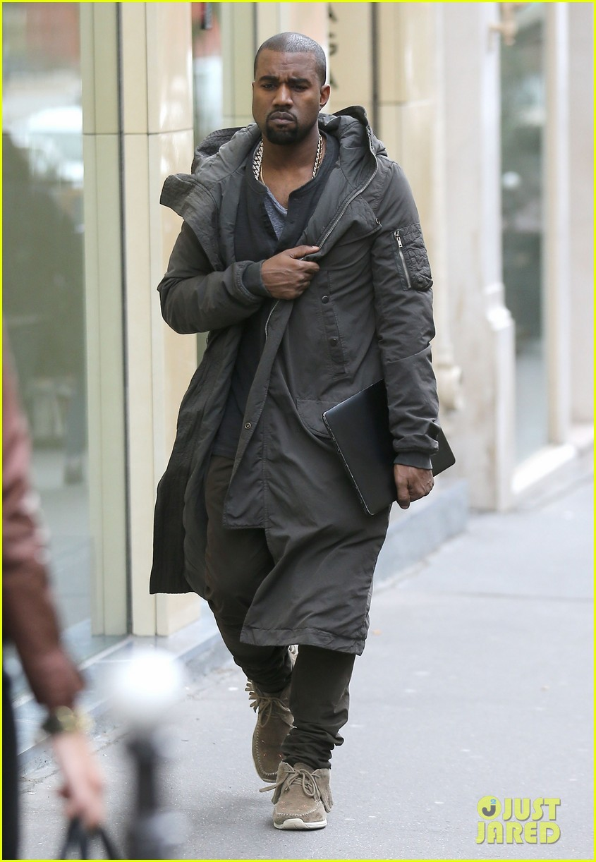 kanye west promotes yeezus in paris 01