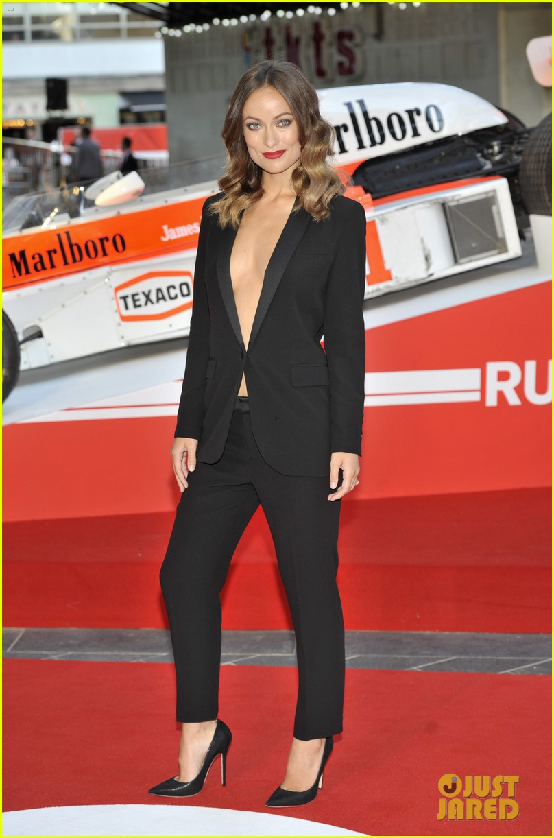 olivia wilde daniel bruhl rush london premiere 012942436
