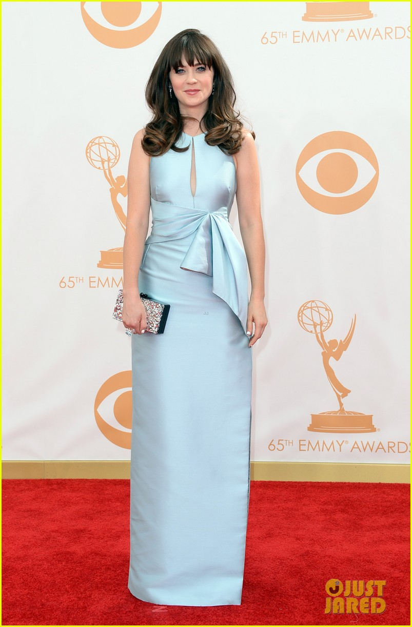 zooey deschanel emmys 2013 red carpet 062957973