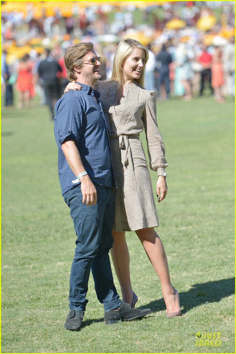 dianna agron nick mathers veuve clicquot polo classic 2013 012966946