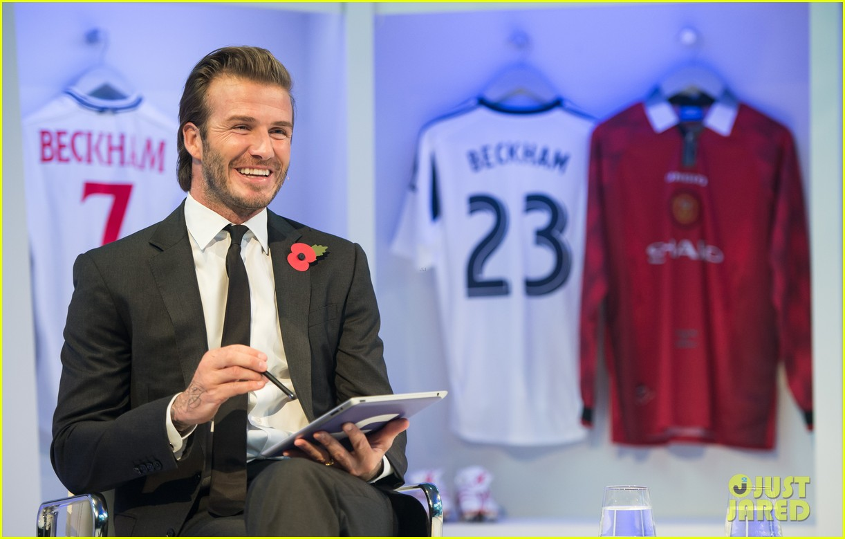 david beckham facebook global book signing 072982943