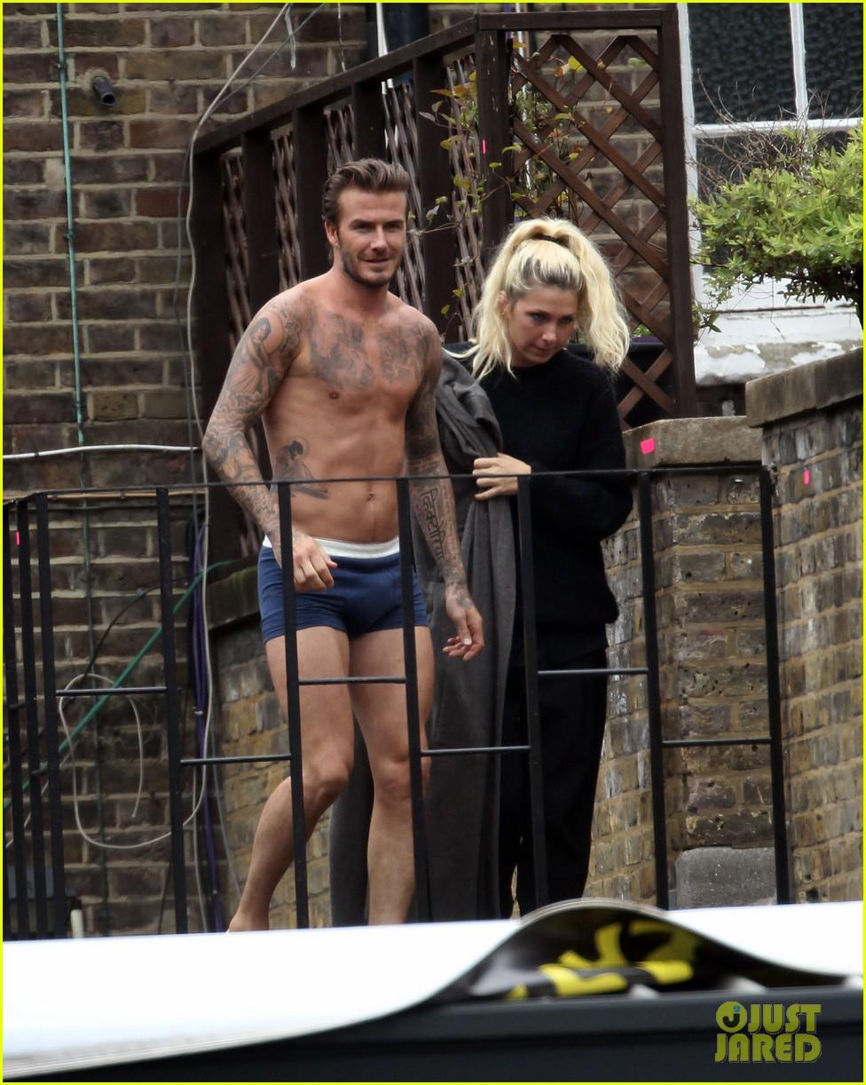 david beckham shows underwear shirtless body flies through air for hm 102964519