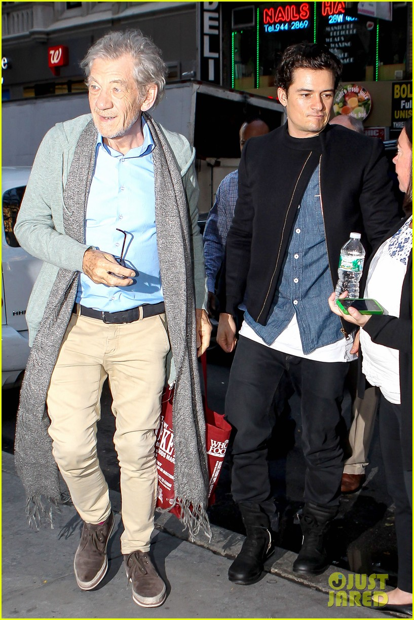 orlando bloom ian mckellan promote hobbit on today 06