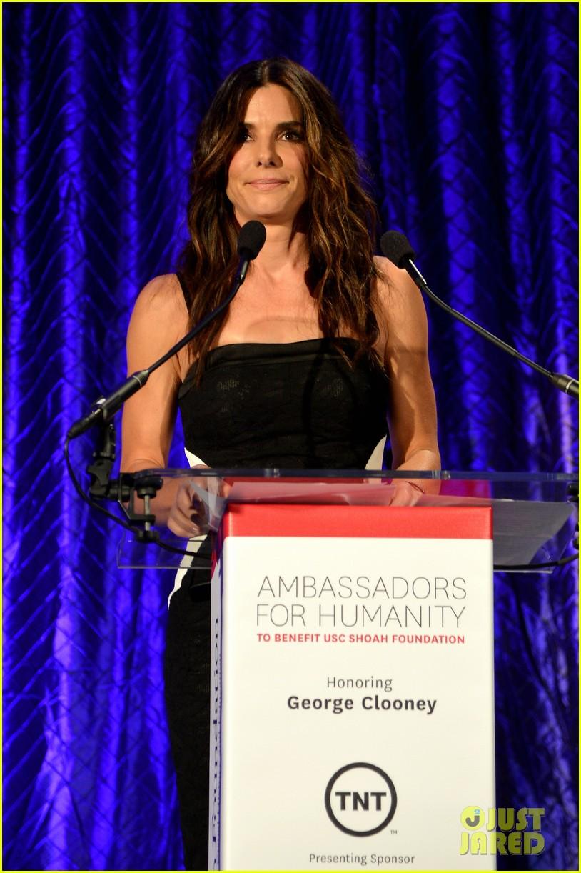 sandra bullock george clooney ambassadors for humanity 10