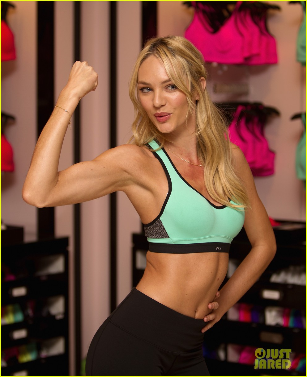 candice swanepoel victorias secret sport bra launch 03