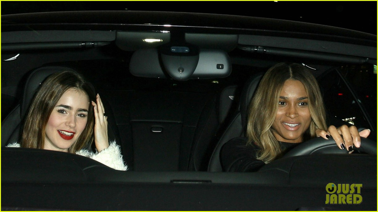 lily collins dines out at hakkasan with gal pal ciara 12