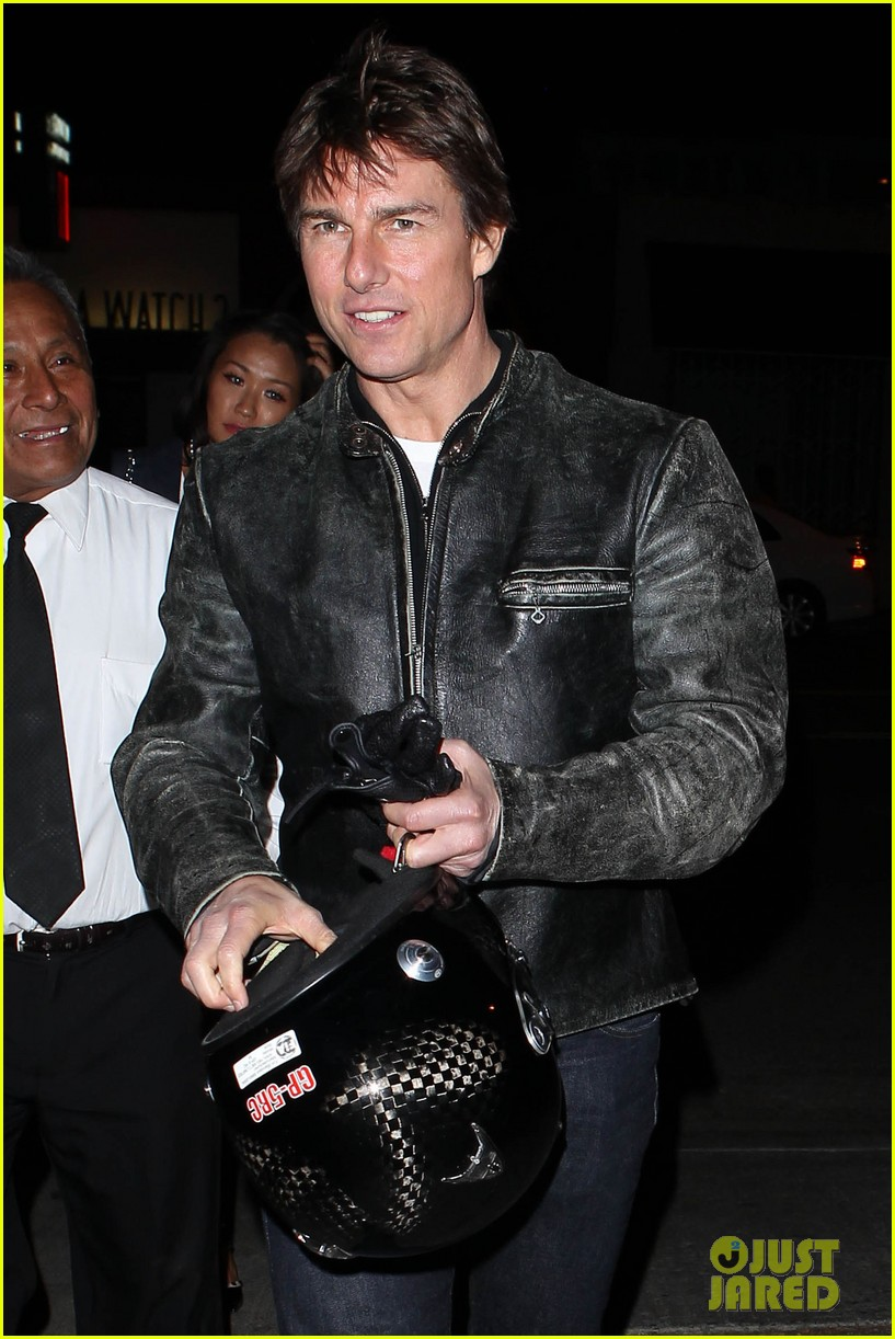 tom cruise rides motorcycle for lucas on sunset dinner outing 19