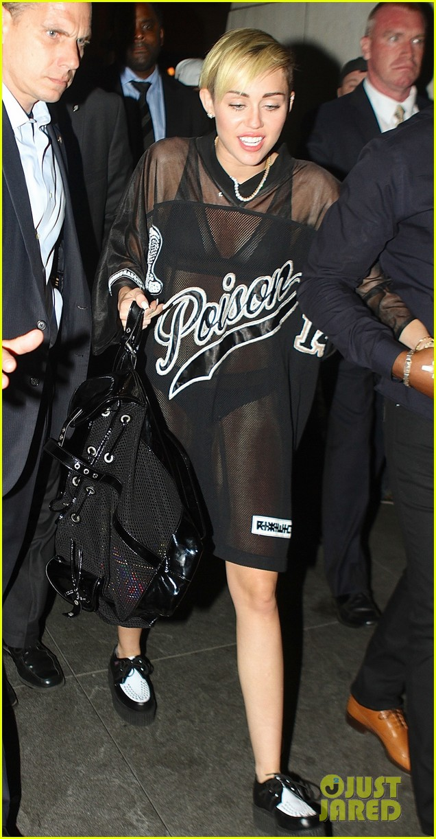 miley cyrus saturday night live after party in sheer outfit 02