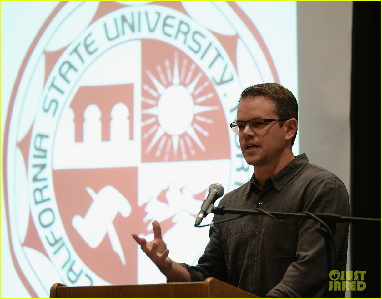 matt damon education on the edge lecture series 072965046