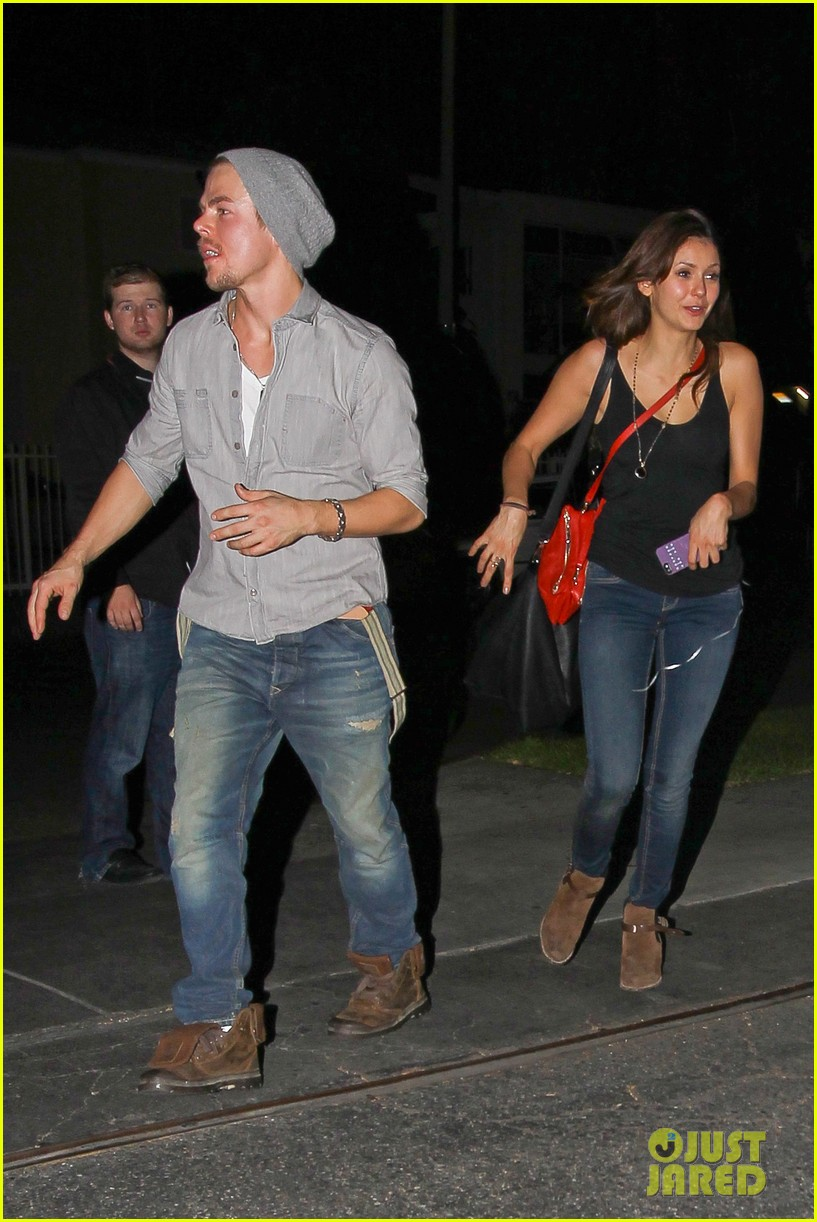 nina dobrev derek hough step out together photos 01