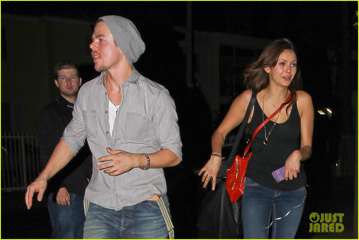nina dobrev derek hough step out together photos 02