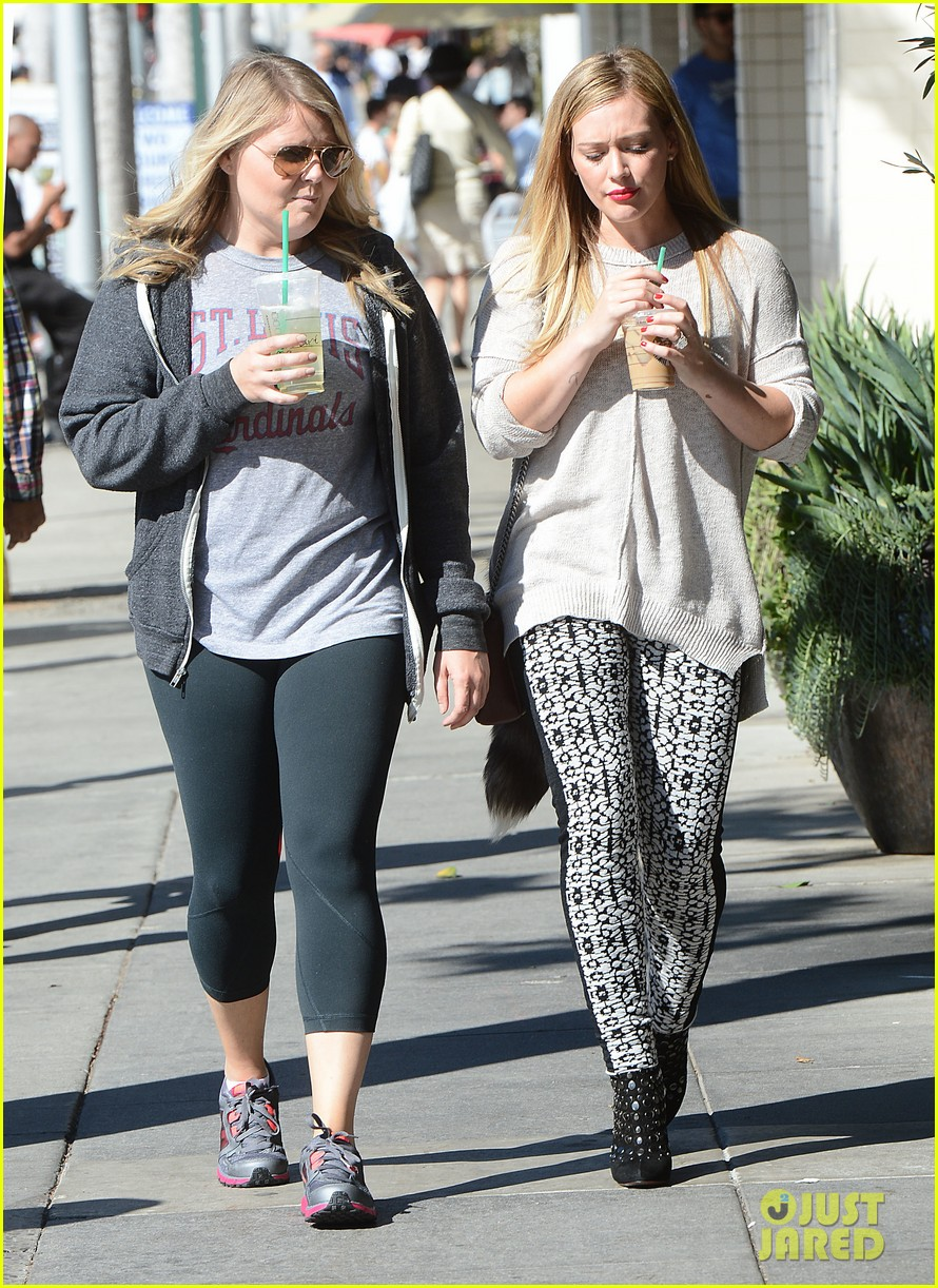 hilary duff grabs coffee with gal pal in beverly hills 082968416