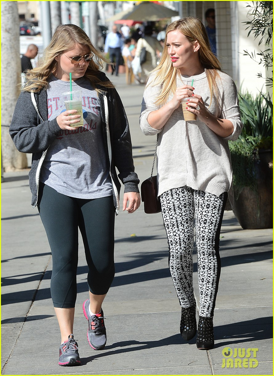 hilary duff grabs coffee with gal pal in beverly hills 112968419