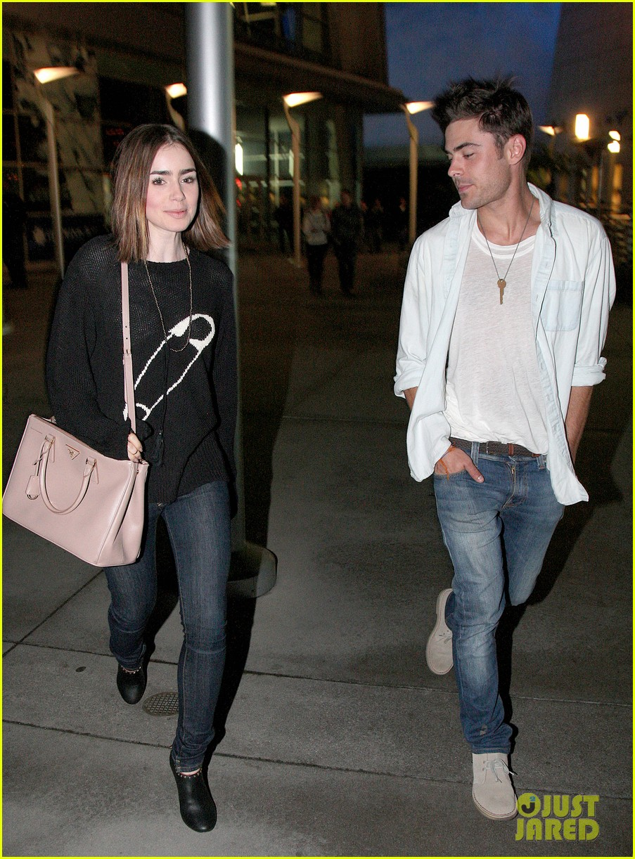 zac efron lily collins movie night out 12
