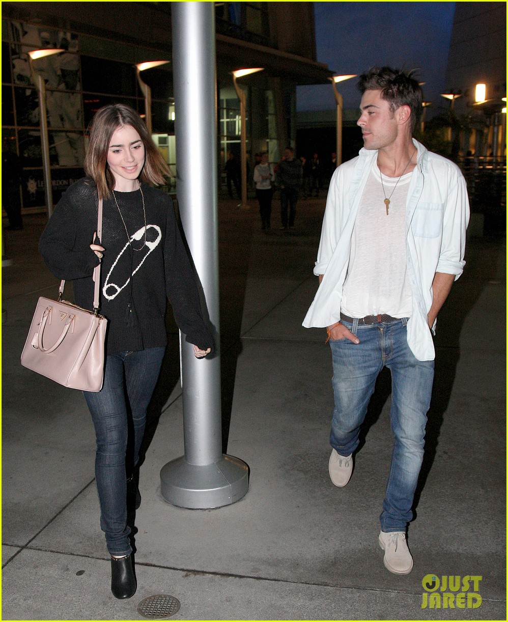 zac efron lily collins movie night out 182971471