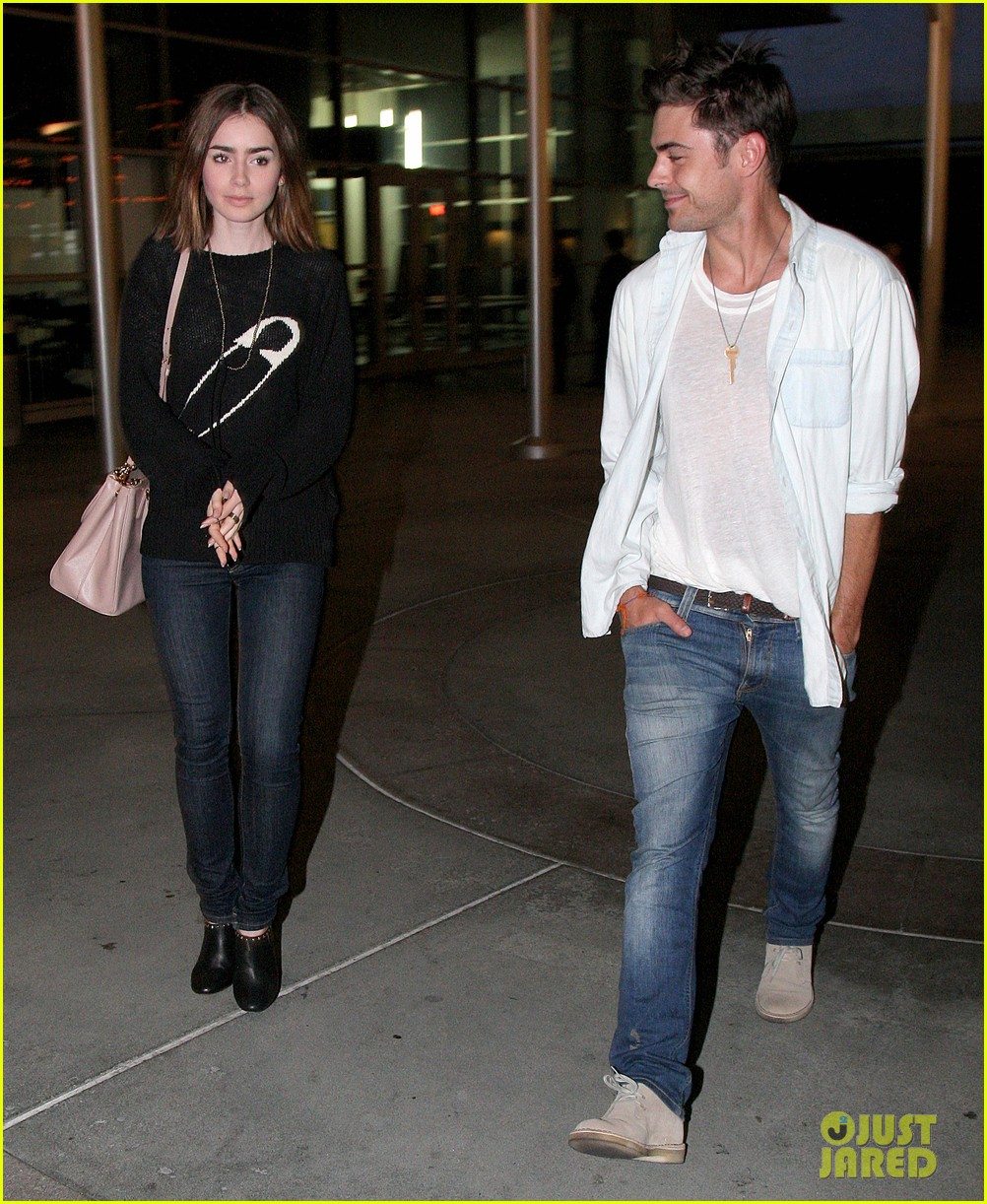 zac efron lily collins movie night out 19