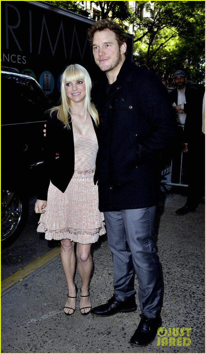 anna faris chris pratt do promo together in new york city 062972743
