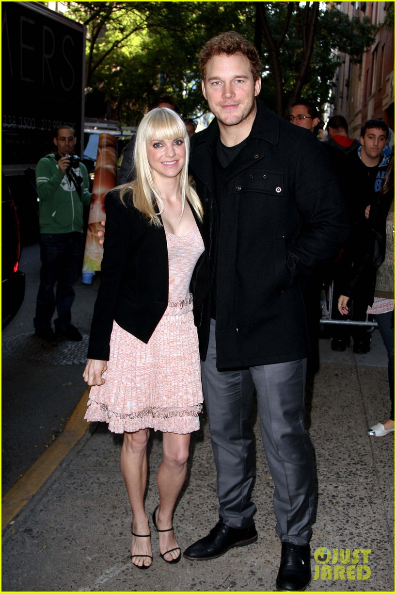 anna faris chris pratt do promo together in new york city 082972745