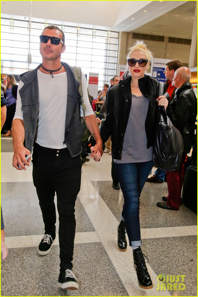 gwen stefani gavin rossdale fly out of los angeles 01