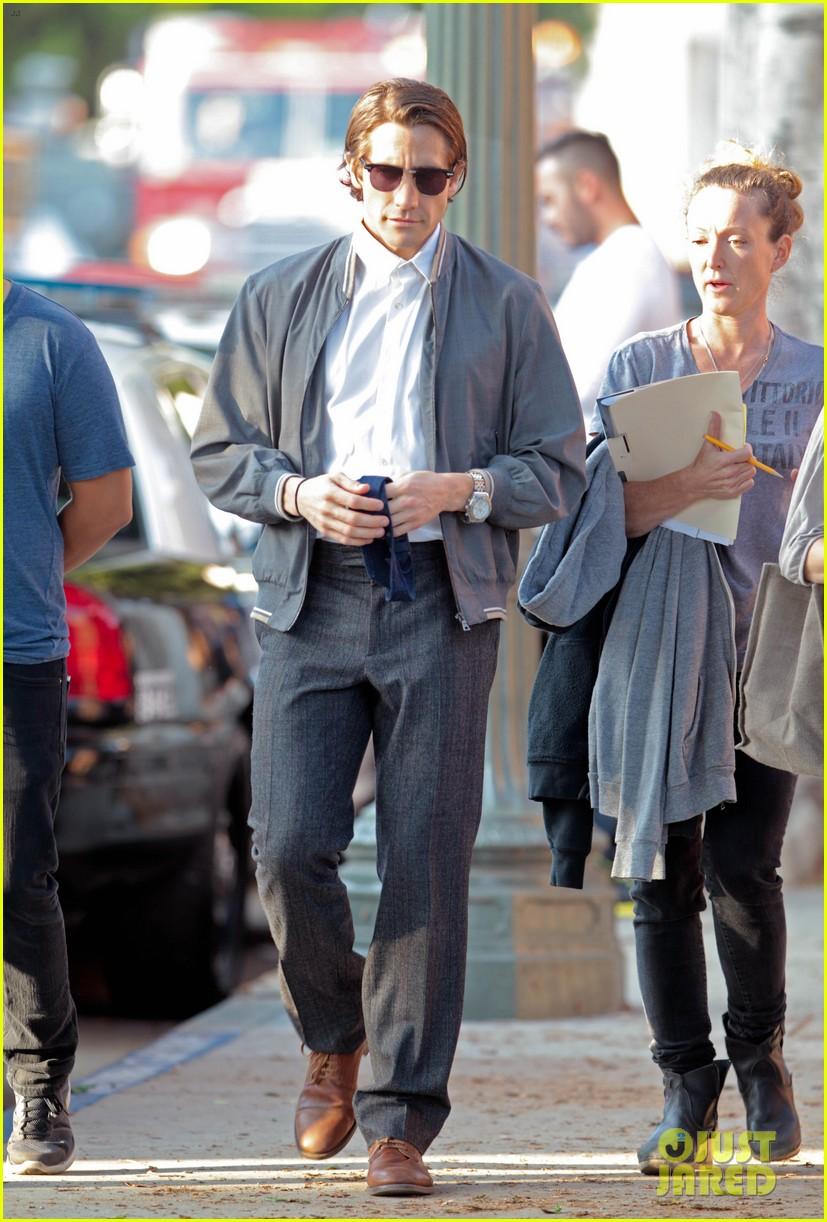 jake gyllenhaal looks slimmed down for nightcrawler shoot 052971605