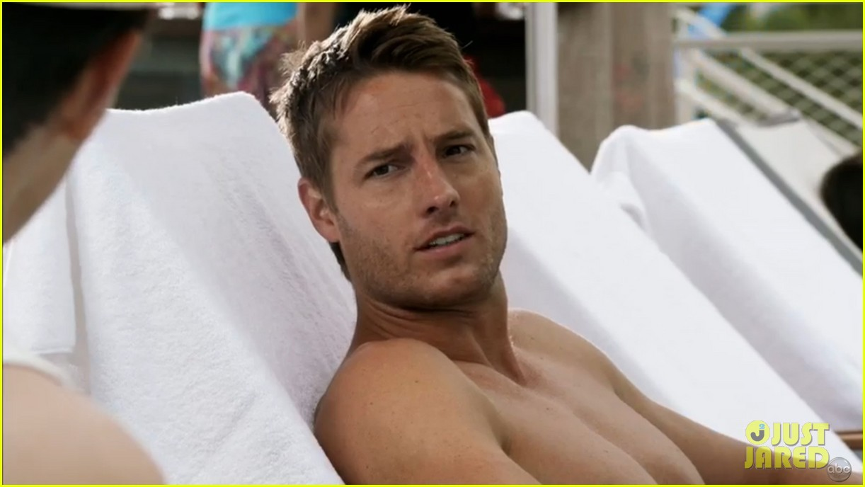 justin hartley goes shirtless revenge stars attend aids walk 102971749