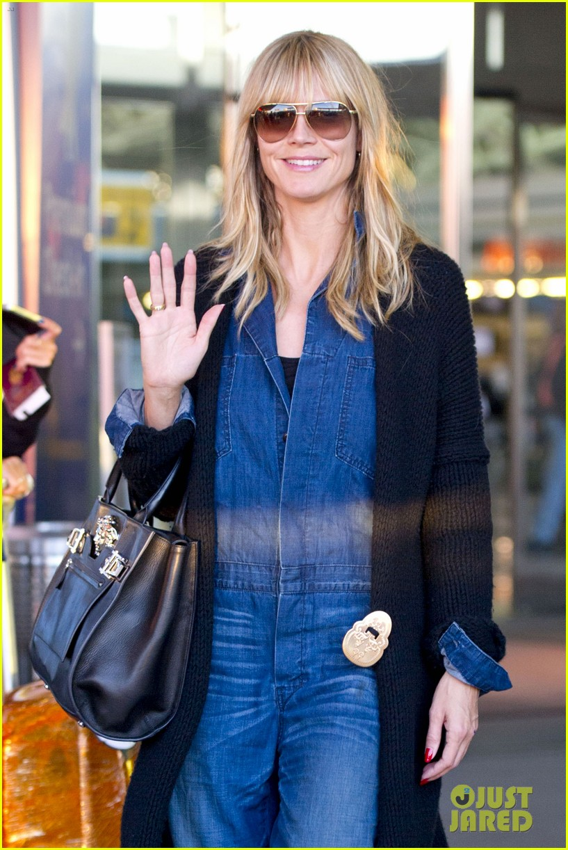 heidi klum lands in nyc after la hospital visit 01