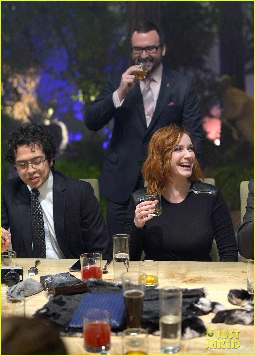 christina hendricks toasts johnny walker platinum 082977621