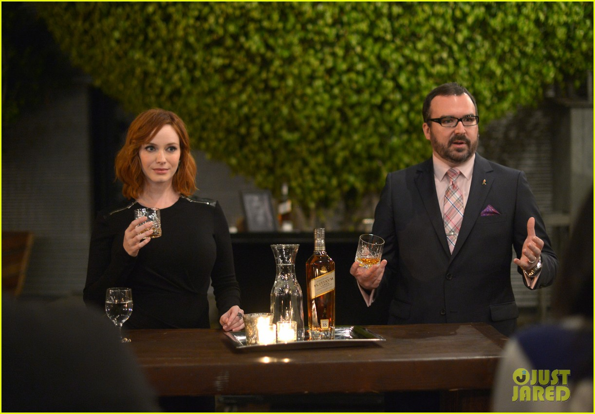 christina hendricks toasts johnny walker platinum 09