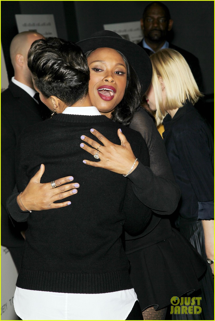 jennifer hudson alicia keys mister pete nyc screening 232964843