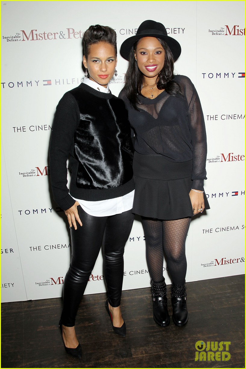 jennifer hudson alicia keys mister pete nyc screening 242964844