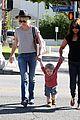january jones hangs with smiley xander after babys class 03