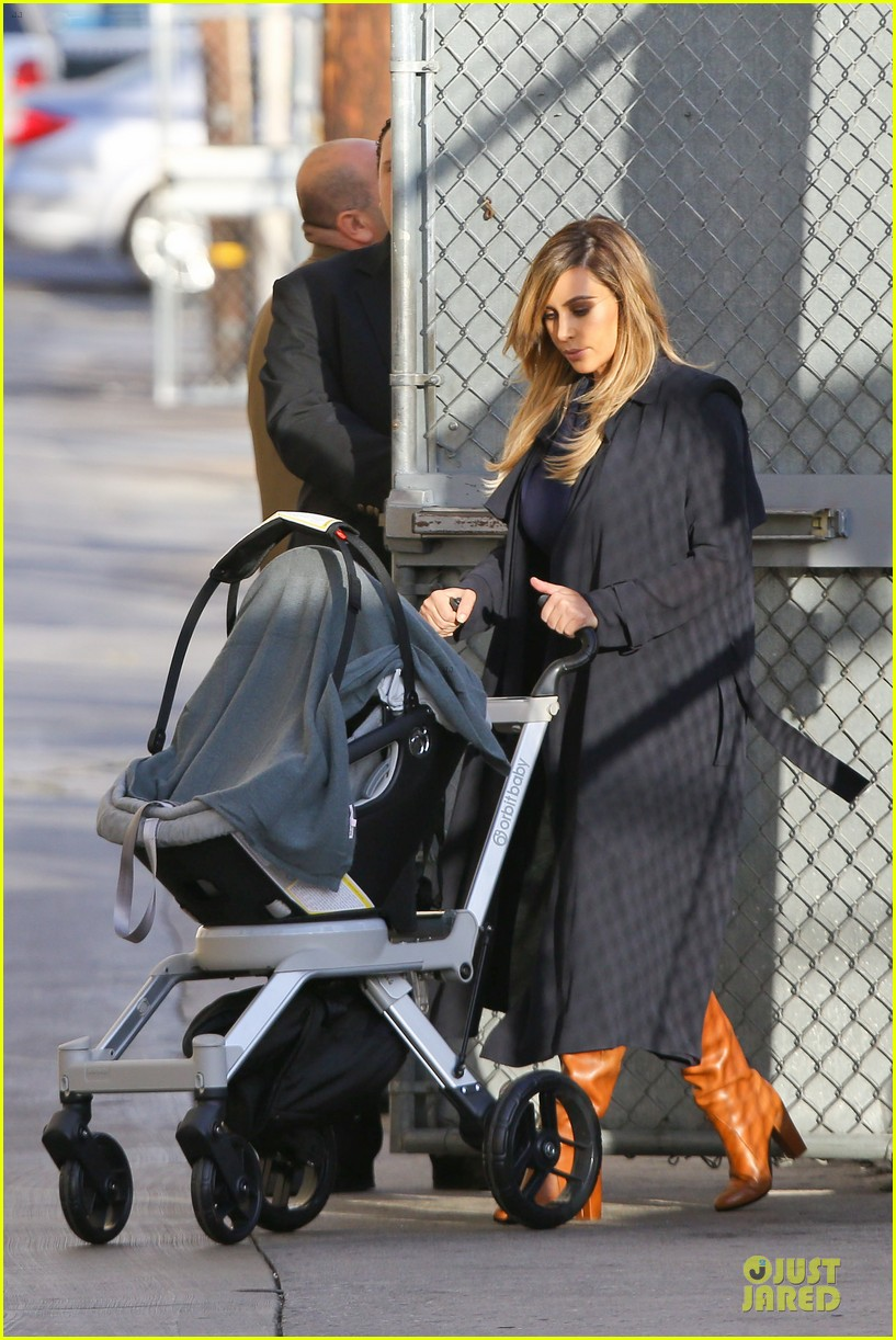 kim kardashian north support kanye west on jimmy kimmel 062969248