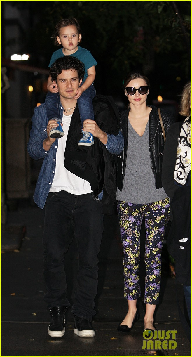 miranda kerr orlando bloom flynn family fun evening 022968366