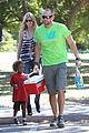 heidi klum martin kirsten kids soccer game duo before lax 07