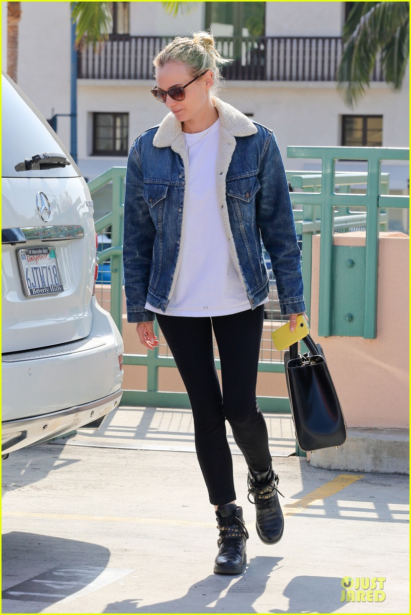 diane kruger prepares for fall with denim jacket 092969817