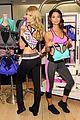 lily aldridge lindsay ellingson display abs at sports bra launch 14