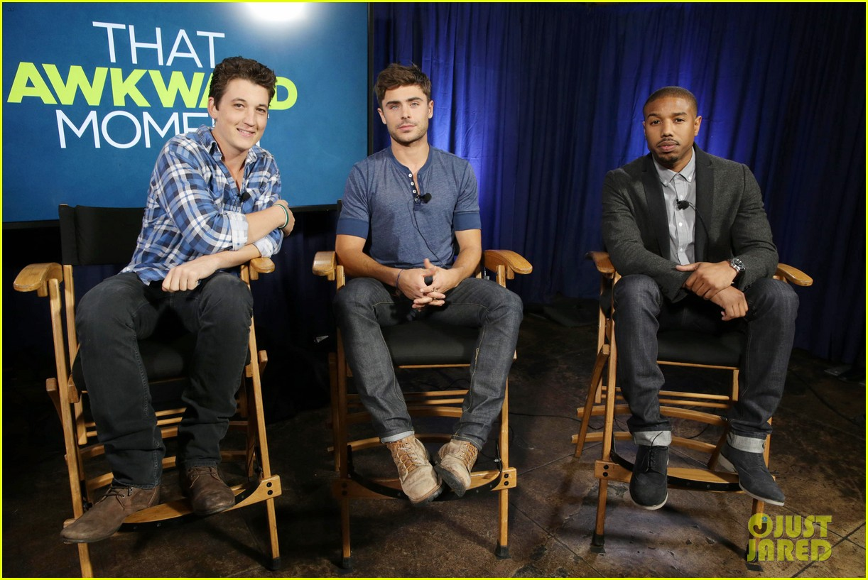 michael b jordan miles teller that awkward moment qa with zac efron 132973153