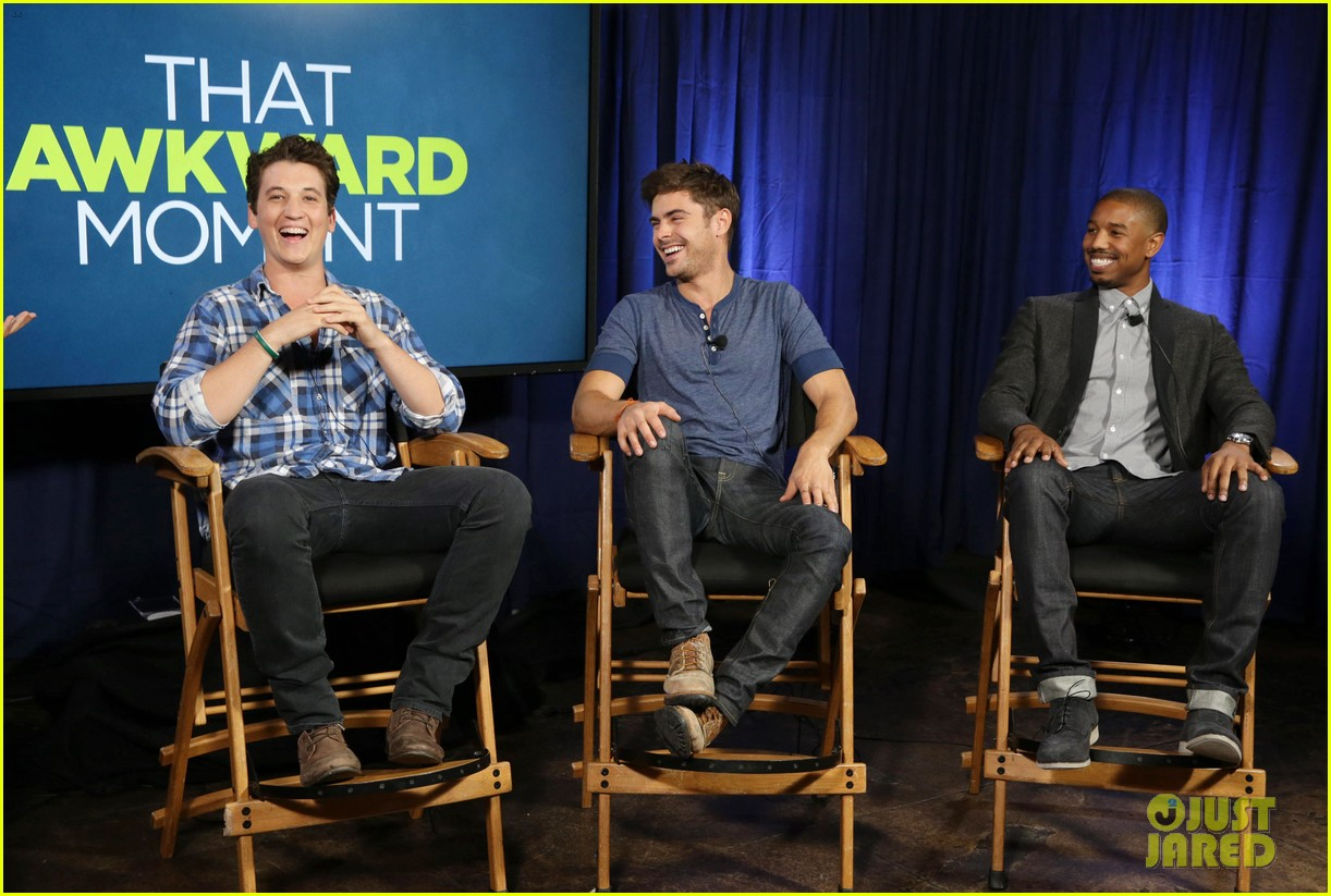 michael b jordan miles teller that awkward moment qa with zac efron 162973156