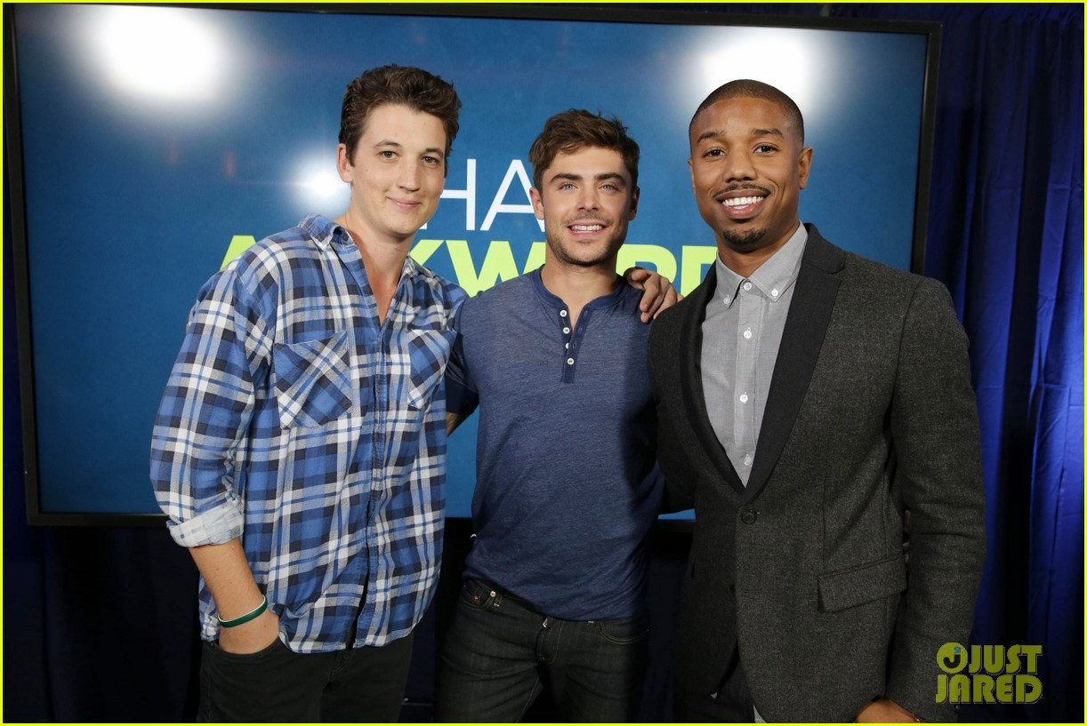 michael b jordan miles teller that awkward moment qa with zac efron 242973164