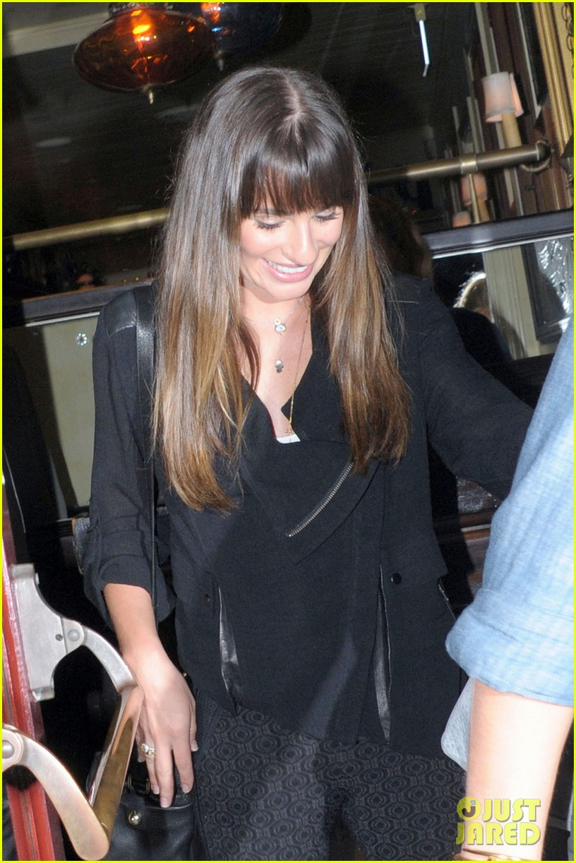 lea michele girls night out at dominiks 052963756