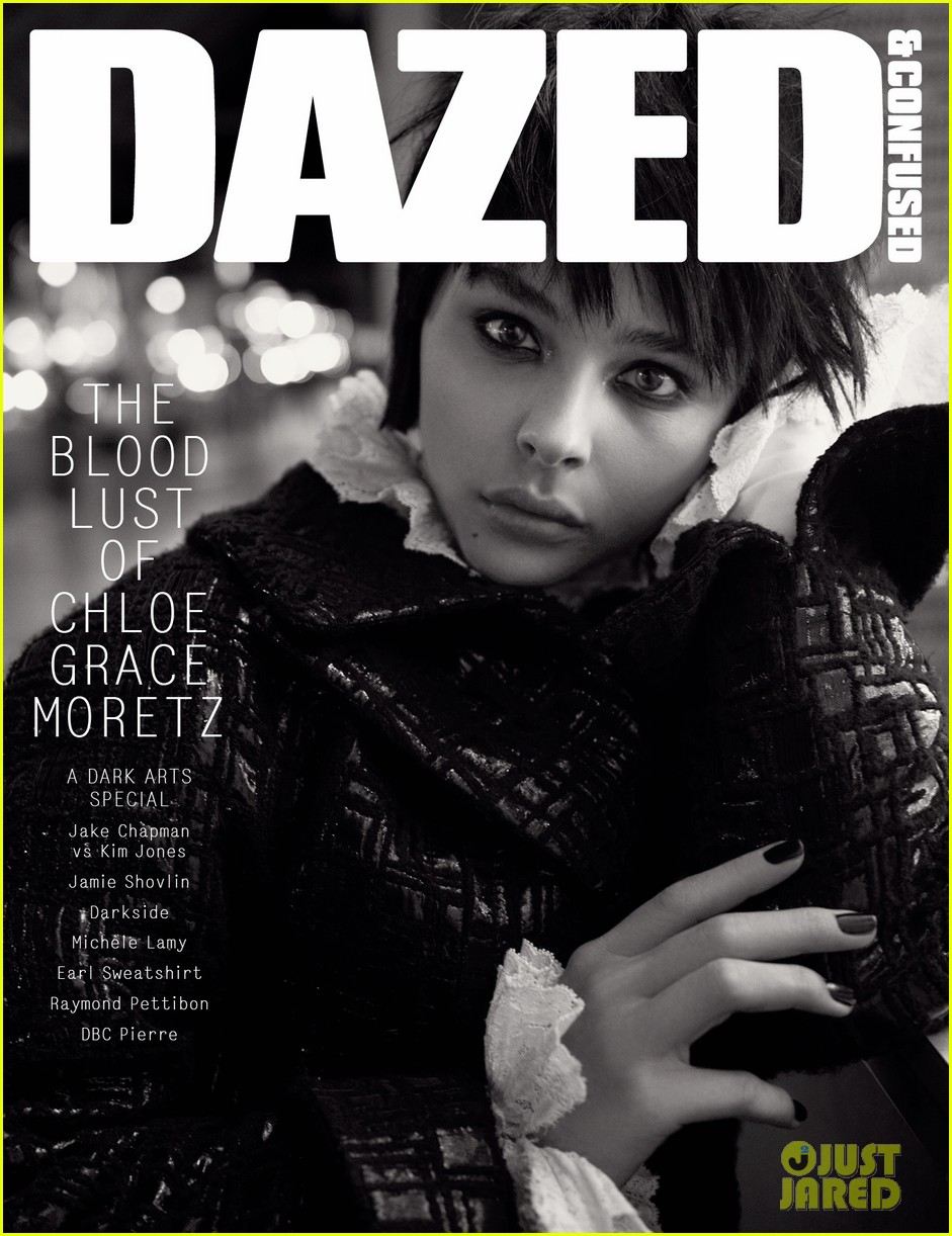 chloe moretz goes gothic chic for  u0026 39 dazed  u0026 confused u0026 39  cover