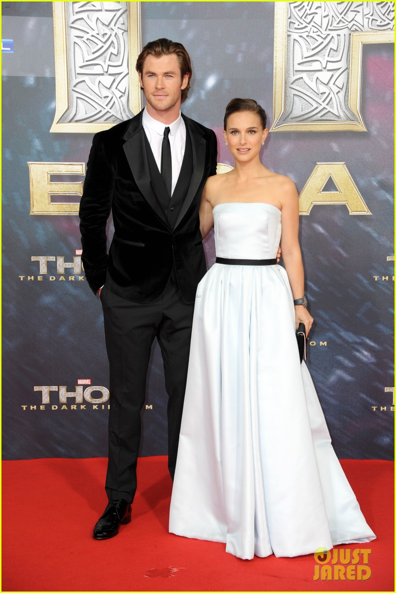 natalie portman chris hemsworth thor berlin premiere 16