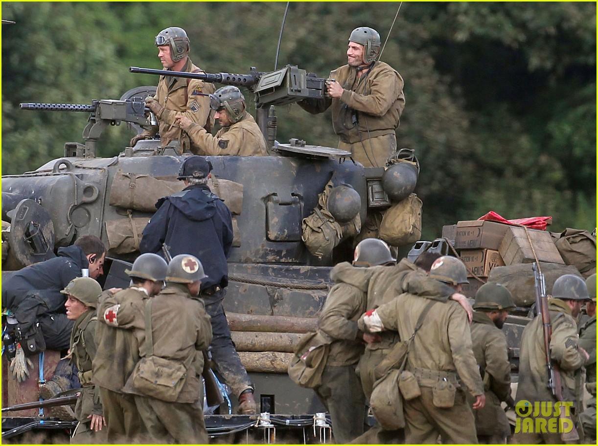 brad pitt shia labeouf continue shooting fury tank scenes 062965918