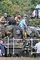 Photo 2 of Brad Pitt & Shia LaBeouf Continue Filming 'Fury' Tank Scenes