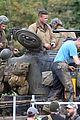 Photo 26 of Brad Pitt & Shia LaBeouf Continue Filming 'Fury' Tank Scenes