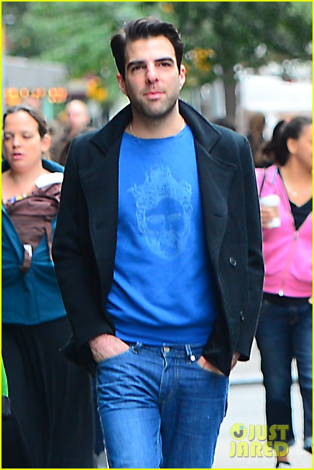 zachary quinto go see big fish on broadway 01
